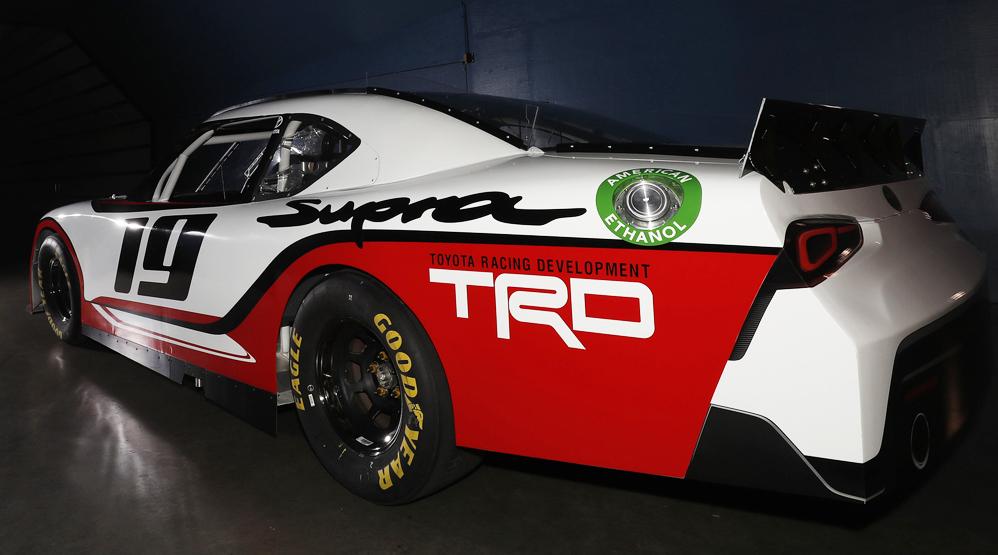 Toyota Supra Xfinity, NASCAR, rear view, dailycarblog.com