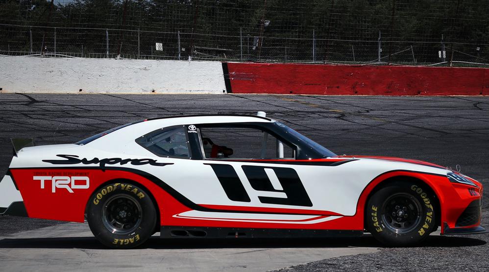 Toyota Supra Xfinity, NASCAR, track side, dailycarblog.com