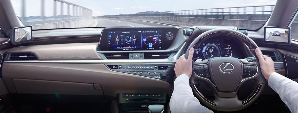 Lexus ES, digital wing mirrors, interior, dailycarblog.com